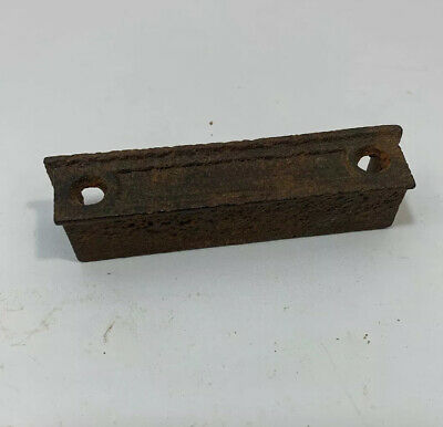 "Antique Vintage Cast Iron Rim Lock Catch 3 1/4"" Inch Door Keeper Latch Hardware"