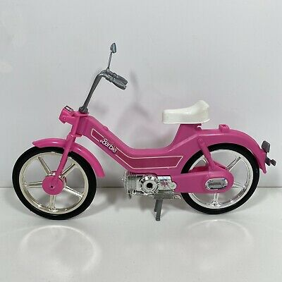 Vtg 1980s Barbie Pink Scooter Moped Motor Bike Missing Basket