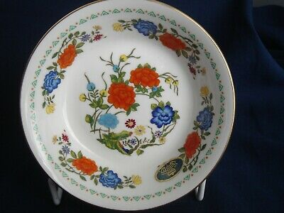 Aynsley Famille Rose Fine Bone China Berry Bowl Floral Print Made in England