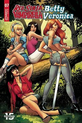 Red Sonja Vampirella Betty Veronica #6 Cover D VF 2019 Dynamite Vault 35