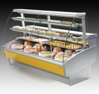 Oscartielle Sweet 2 Commercial Cake / Pastry Glass Display Showcase Fridge