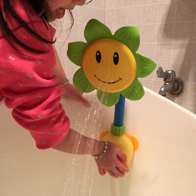 Manual Sunflower Bathing Tub Shower Faucet Baby Bathroom Swimming Play Toy Eager