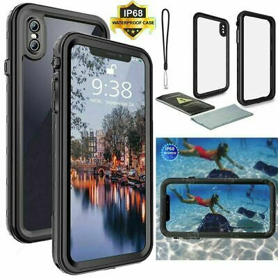For iPhone 11 Pro Max X XS XR 6 6s 7 8 Plus Waterproof Case Cover Shockproof