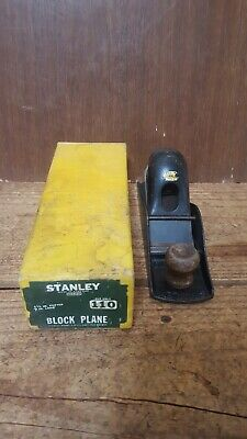 Vintage Stanley No 110 Block Plane, Made in England, Boxed