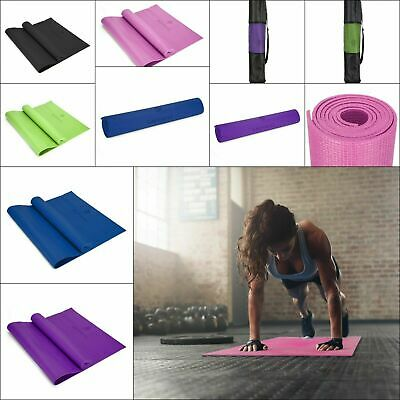 EXTRA THICK 6mm Yoga Mat Non Slip Exercise Gym Mat Camping Picnic 173cm x 61cm