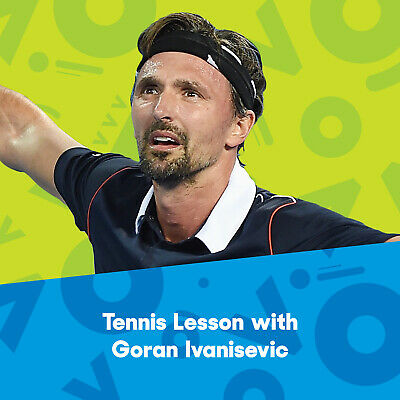 1 Hour Tennis Lesson with Goran Ivanisovic + AO Ground Pass