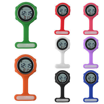Colorful Multi-function Digital Silicone Boxed Rubber Nurse Watch Fob Watch Gift