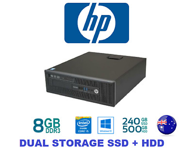 HP EliteDesk 800 G1 i5 4570 8G 500GB HDD+240G SSD SFF  DVDRW Win 10 Desktop PC