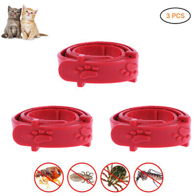 Anti Insect Flea and Tick Collar 8 Month Protection For Pet Cat Adjustable