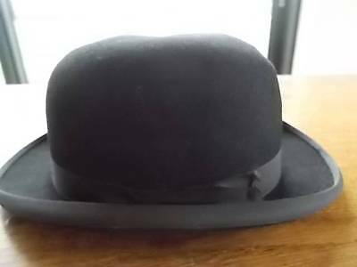 Vtg Childrens XS Unisex MOSS BROS Covent Garden Black Bowler Hat 6 1/2 X Small