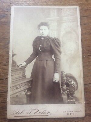 Victorian Antique Photo Lady Photograph by Robt T Watson Pease St HULL