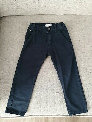 Boys Hugo Boss Trousers Chino Style Jeans Dark Blue Age 3 Year Regular Fit