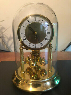 Kern & Sohn Midget, KS, 400 Day, Torsion, Anniversary Clock, Under Glass Dome.