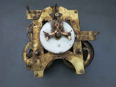 Vintage Ansonia open escapement clock movement - repair or spares