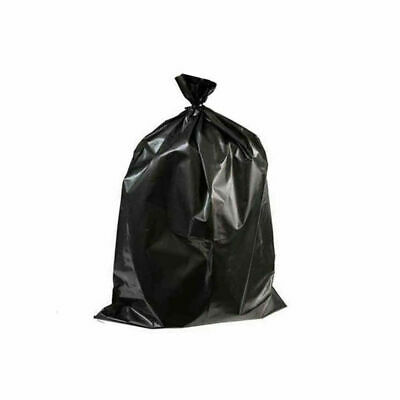 60 Heavy Duty Black Bin Liners Strong Large Waste Bags Rubbish Refuse Sacks