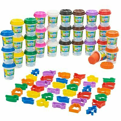 71 Pcs Craft Dough Kids Gift Toy Set Tubs & Shapes Creative Children Play Clay