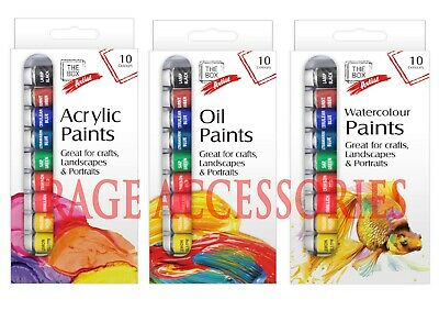 Paints Acrylic Water Oil Assorted Colours Water Based Paint Set Artist Art Craft