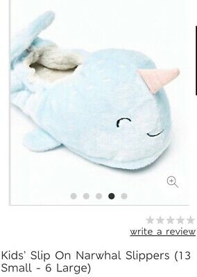 BNWT Marks And Spencer Unicorn Narwhal Slippers UK2