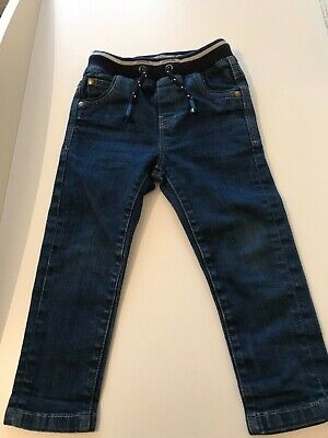 Next Boys Blue Pull Up Jeans Blue 18-24 months in excellent condition