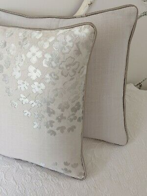 """cushion cover laura ashley Gosford Charcoal Piped dove grey Bacall 16/"""""""