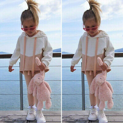 Toddler Baby Girl Winter Clothes Hooded Tops Long Pants Tracksuit Outfits Set CL