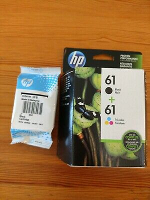 Genuine Hp 61 Ink 2 Combo-Pack + (1) Black.. 3 Cartridges (2) Black (1) Color