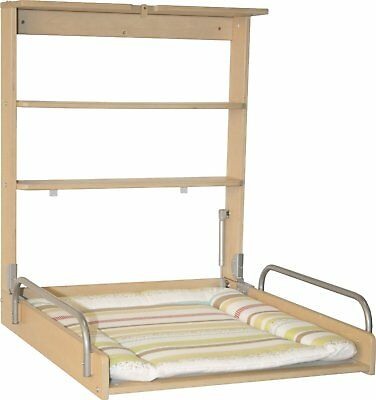 Changer of Nappy of Wall Flip Changer of Baby Boy Girl with Mattress