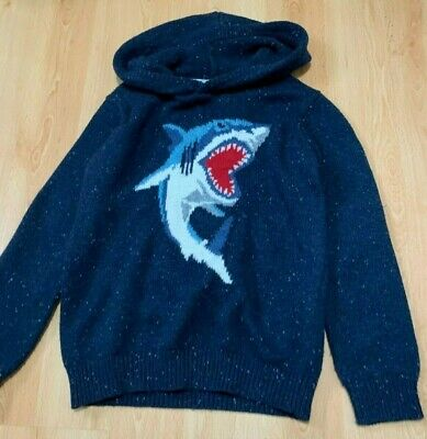 Fat Face Boys Shark Hoodie/Jumper Age 8-9 Years