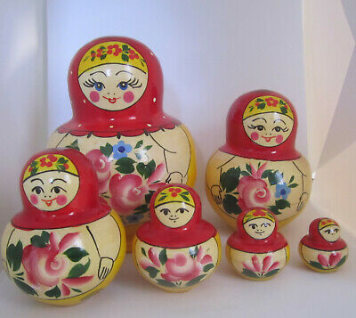 10X 0.8~4.5cm Hand Painted Wooden Matryoshka Nesting Toys Russian Stacking Dolls