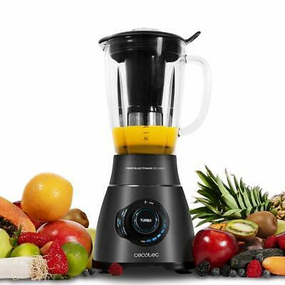 Cecotec Blender of Beaker American Power Black Titanium 1800 Smart Digital New