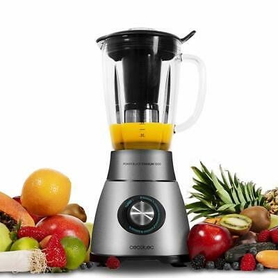Cecotec Power Black Titanium 1800 Blender of Beaker 1800W Razor 6 Sheets Titani