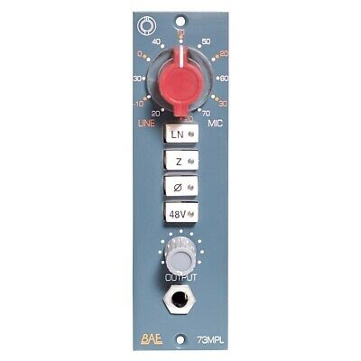 BAE 1073MPL 500 Series Microphone Preamp, single channel Neve pre, NO RESERVE #1