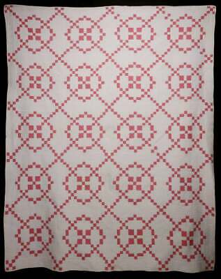 """AN EARLY 20TH CENT 'BURGOYNE SURROUNDED' PATTERN QUILT 88"""" x 72"""""""