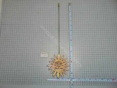 Large Brass Sun Pendulum With Medusa Face Ø 10 Cm