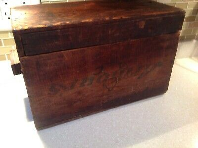 Antique Old Vintage Farm Folk Primitive Handmade Wooden Box