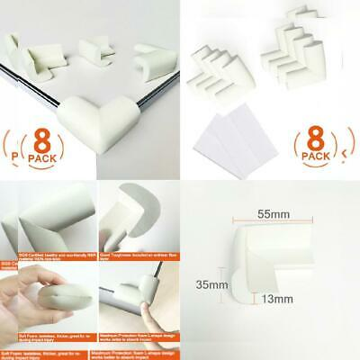 [8 Pack] Child Safety Corner Protectors, Canwn Soft Foam Baby Proofing white