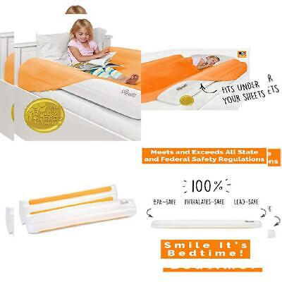 The Shrunks Sleep Security Inflatable Bed Rails (2 Pack) - Safe and 2 Count