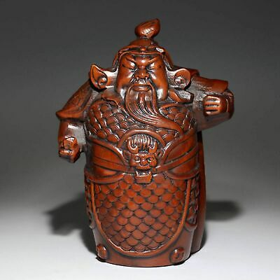 Collectable China Old Boxwood Hand-Carved Immortal Bring Luck Delicate Statue