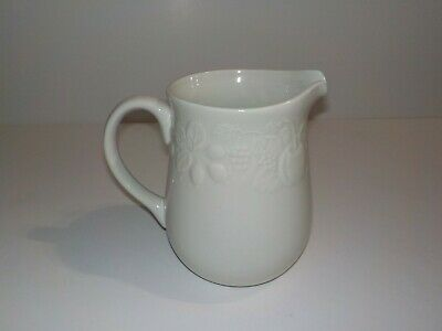 Gibson Housewares Off White Fruit Embossed Ceramic Pitcher