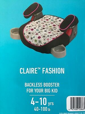 Graco Backless TurboBooster Booster Car Seat Claire fashion - Flower Theme