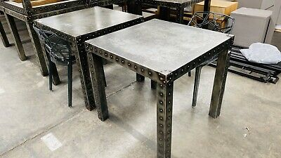 80cm Square restaurant / Cafe tables Industrial Style