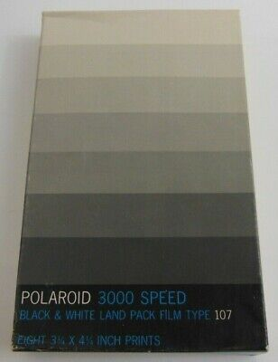 EXPIRED Polaroid Type 107 Land Film 3000 Vintage Cartridge Sealed 8 Picture 1979