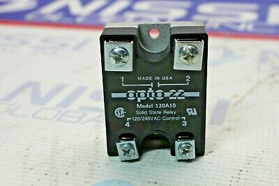 """""""Opto 22 Model 120A10 Solid State Relay 120/240VAC Control """""""