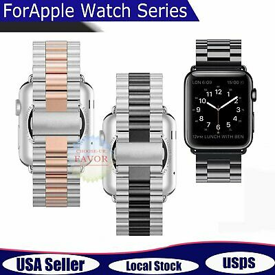 For Apple Watch Series 4/3/2/1 Wrist Strap Stainless Steel iWatch Band 38/42mm