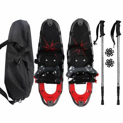 Goplus Snowshoes All Terrain Sports 27'' With Anti-Shock Adjustable Poles  Carr