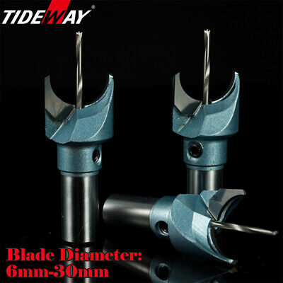 """Carbide Router Bits 1/2"""" 1/4"""" Shank TCT Wood Joining Cutter Shaping 6-30mm AU"""