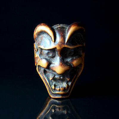 NETSUKE - Japanese Antique -, Hannya, Wood, 19th Century