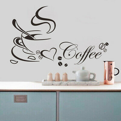 Removable Art Vinyl Quote DIY Coffee Cup Wall Sticker Decal Mural Hom#gnhb