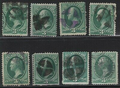 19th Century Collection / Lot of US 3c Green Banknote Fancy Cancels