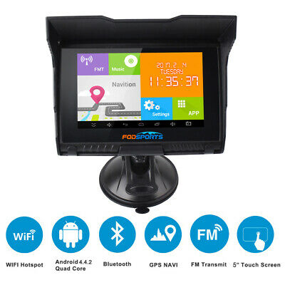 5'' TFT Android 4.4.2 WIFI 512M 8GB Flash Motorrad GPS Navigation 11 Languages